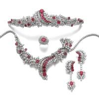 33. ruby and diamond parure