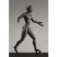 10. a bronze figure of an athlete, etrusco-campanian, circa early 5th century b.c.