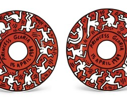 43. a pair of villeroy & boch plates, designed by keith haring (1958-1990), 1989