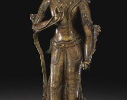 104. 十三/十四世紀 西藏 銅菩薩立像
