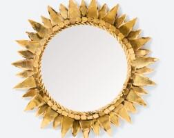 34. line vautrin | soleil à pointes n. 2 convex mirror