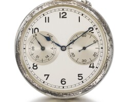 32. a. lange & söhne, glashütte | asilver open-faced deck watch with up-and-down indicationcirca 1944,no.204286