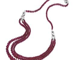 1620. 紅寶石珠子配鑽石項鏈, 寶格麗﹙bulgari﹚