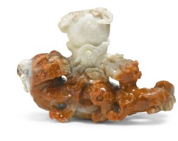 87. a large carnelian-agate 'lion' vase qing dynasty, 19th century