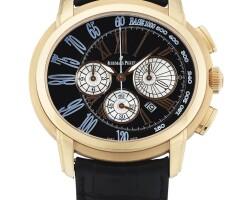 216. 愛彼(audemars piguet) | 26145or型號「millenary」粉紅金計時腕錶備日期顯示,年份約2010。