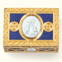 43. a 19th centurylarge decorative gold and enamel snuff box |