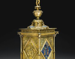 5. a parcel-gilt silver standing salt, unmarked, probably french or flemish, circa 1560
