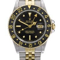3. rolex | gmt-master, reference 16753 stainless steel and yellow gold dual-time wristwatch with date and bracelet circa 1982