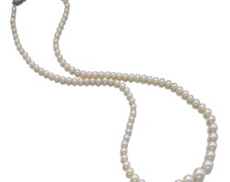 356. pearl and diamond necklace, cartier