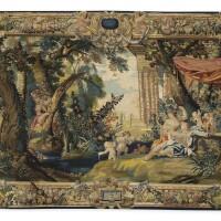 24. a 17th century parisian workshop tapestry depicting the story of rinaldo and armida, circa 1640 |
