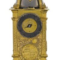 4. 德國製 | 文藝復興時期銅鎏金座鐘備鬧鐘,年份約1560