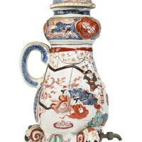 1102. japanese imari cistern and cover late 17th / early 18th century