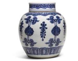 7. a blue and white jar and cover qing dynasty, kangxi period |