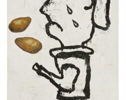 189. donald baechler (b. 1956) | prayer painting (potato painting), 1988