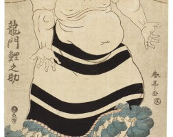 47. katsukawa shuntei (1762–1819)a group of four sumo prints edo period, late 18th century  