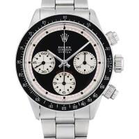 248. 勞力士(rolex) | 6263型號「'oyster sotto paul newman' daytona」精鋼計時鍊帶腕錶,年份約1969。