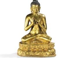 18. 明 鎏金銅佛坐像