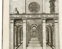 3. alberici, compendio delle grandezze dell'illustre, roma, 1600, pergamena coeva