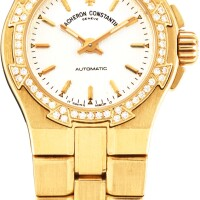 123. vacheron constantin   overseas a yellow gold and diamond-set bracelet watch, circa 2005