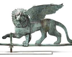 1774. rare molded copper 'lion of judah' weathervane, late 19th century |