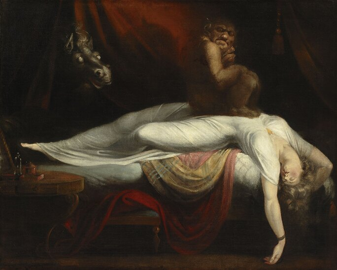 Henry Fuseli (1741–1825), The Nightmare, 1781, oil on canvas.