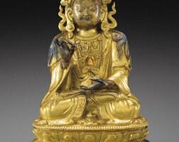 119. 清十八世紀 鎏金銅菩薩坐像