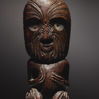 107. maori janiform figure, new zealand