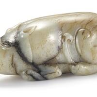 3761. a grey jade figure of a beast ming dynasty