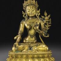 122. 清乾隆 鎏金銅白度母坐像