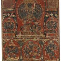 906. a paubha depictingguhyakali nepal, circa 16th century |