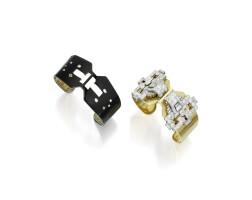 112. 鑽石別針及手鐲組合一對