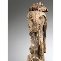 68. magnifique poteau, dayak ngaju, kalimantan, bornéo, indonésie