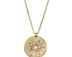 508. diamond pendant necklace, 'babylon sun ring', de beers