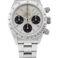 49. 勞力士(rolex) | 6265型號「daytona」精鋼計時鍊帶腕錶,年份約1988。