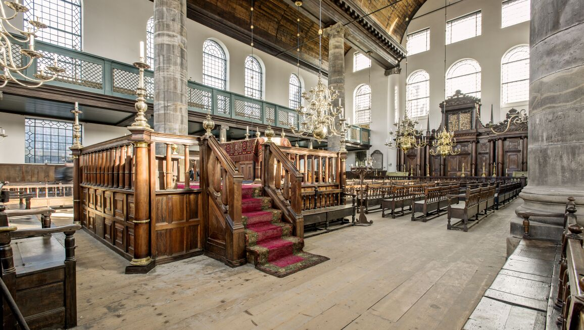 Interior View, Portuguese Synagogue