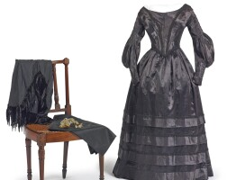 992A. group of mourning clothingand accessories