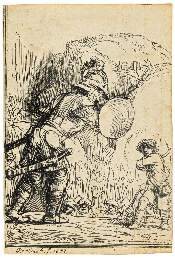 Rembrandt Harmensz. van Rijn David and Goliath
