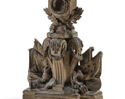 31. french, late 18th centurywatch holder with a military trophy and fleur-de-lys |