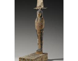 26. a polychrome wood figure of ptah-soker-osiris, ptolemaic period, 304-30 b.c.