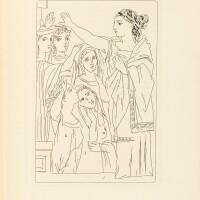 39. picasso-aristophane. lysistrata. new york, 1934. in-4, cart. d'éditeur. ex. sur rives, numéroté et signé par l'artiste.