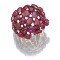 37. ruby and diamond ring, michele della valle