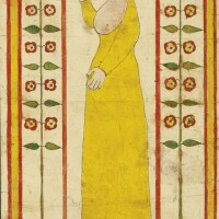 650. rare watercolor religious text, john van minian berks or montgomery county, pennsylvania, or baltimore county, maryland, 1820-1835