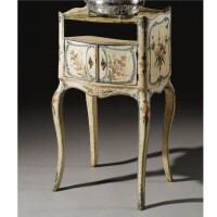 9. an italian lacquered bedside table, genoese mid 18th century