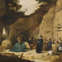 41. studio of david teniers the youngerantwerp 1610 - 1690 brussels | the temptation of saint anthony