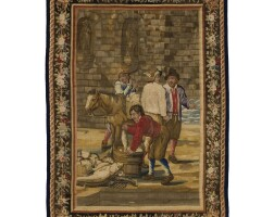 3. a possibly spanish tapestry, the fishmonger, after david teniers, late 18th century and later