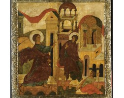 402. the annunciation, moscow school, 16th century