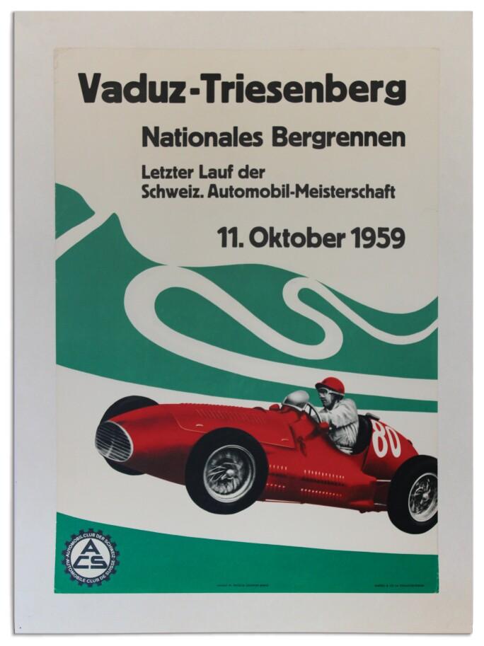 Monaco Grand Prix 1959 Le Mans 24 Hours Vintage Poster Print Racing Cars