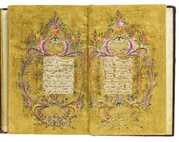 26. an illuminated ottoman qur'an, copied by mehmed tawfiq, student of mehmed rashid, turkey, ottoman,dated 1289 ah/1872-73 ad  