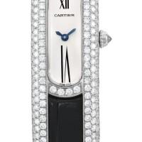 2022. cartier | white gold and diamond-set wristwatchref 2635 case 915403cd libre circa 2011