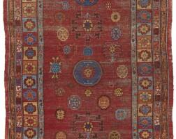 4. a khotan long rug, east turkestan